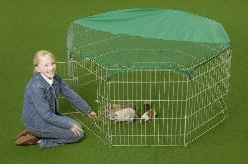 Outdoor Octagon Rabbit Run Cage with Sun Protection Net Cover